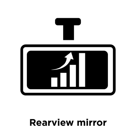 Rearview mirror icon vector isolated on white background, logo concept of Rearview mirror sign on transparent background, filled black symbol Banco de Imagens - 107808663