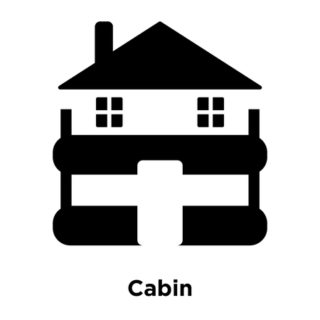 Cabin icon vector isolated on white background, logo concept of Cabin sign on transparent background, filled black symbol