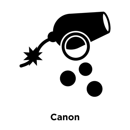 Canon icon vector isolated on white background, logo concept of Canon sign on transparent background, filled black symbol Illustration