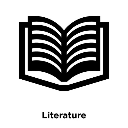 Literature icon vector isolated on white background, logo concept of Literature sign on transparent background, filled black symbol