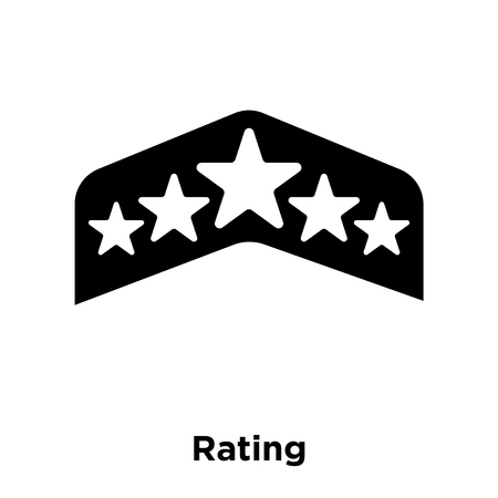 Rating icon vector isolated on white background, logo concept of Rating sign on transparent background, filled black symbol