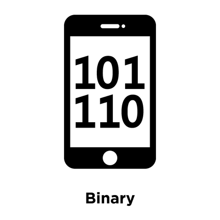 Binary icon vector isolated on white background, logo concept of Binary sign on transparent background, filled black symbol Иллюстрация