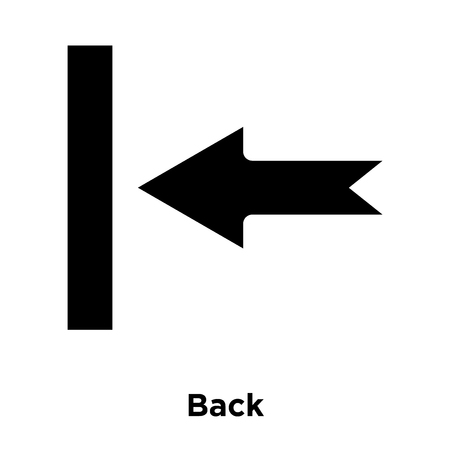 Back icon vector isolated on white background, logo concept of Back sign on transparent background, filled black symbol