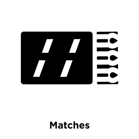 Matches icon vector isolated on white background, logo concept of Matches sign on transparent background, filled black symbol