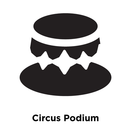 Circus Podium icon vector isolated on white background, logo concept of Circus Podium sign on transparent background, filled black symbol