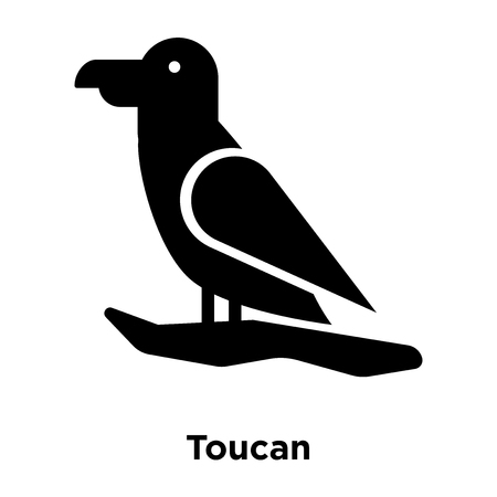 Toucan icon vector isolated on white background, logo concept of Toucan sign on transparent background, filled black symbol