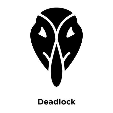 Deadlock icon vector isolated on white background, logo concept of Deadlock sign on transparent background, filled black symbol