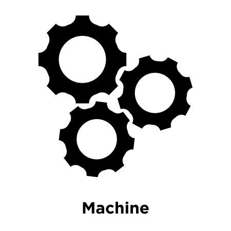 Machine icon vector isolated on white background, logo concept of Machine sign on transparent background, filled black symbol