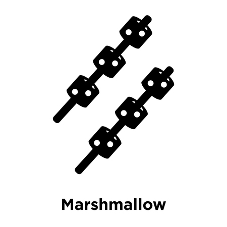 Marshmallow icon vector isolated on white background, logo concept of Marshmallow sign on transparent background, filled black symbol