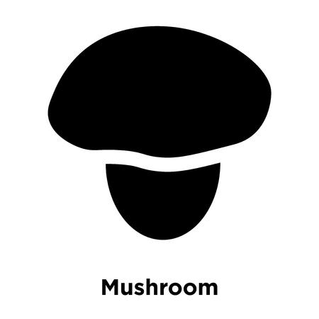 Mushroom icon vector isolated on white background, logo concept of Mushroom sign on transparent background, filled black symbol