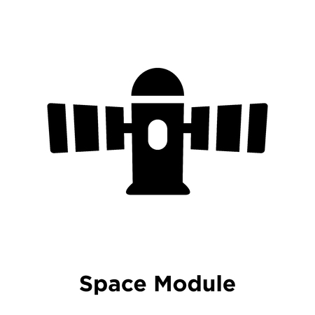 Space Module icon vector isolated on white background, logo concept of Space Module sign on transparent background, filled black symbol Illusztráció