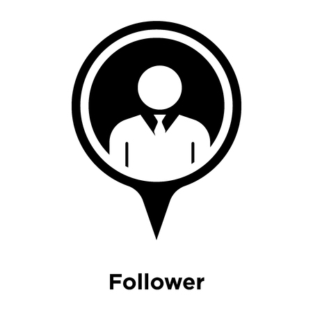 Follower icon vector isolated on white background, logo concept of Follower sign on transparent background, filled black symbol