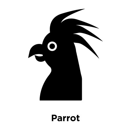 Parrot icon vector isolated on white background, logo concept of Parrot sign on transparent background, filled black symbol