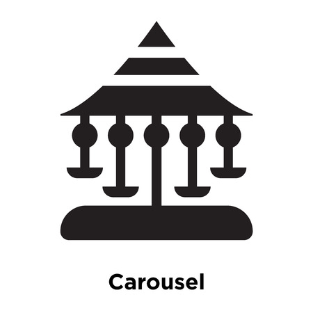 Carousel icon vector isolated on white background, logo concept of Carousel sign on transparent background, filled black symbol