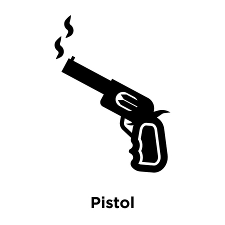 Pistol icon vector isolated on white background, logo concept of Pistol sign on transparent background, filled black symbol Stock Vector - 107971449