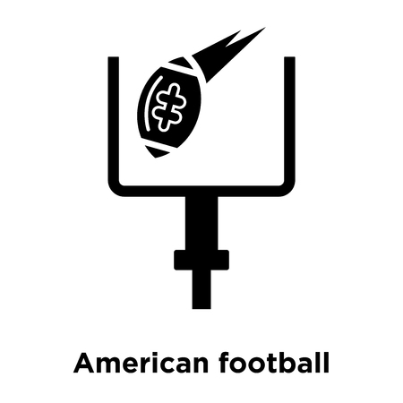 American football annotation icon vector isolated on white background, logo concept of American football annotation sign on transparent background, filled black symbol Иллюстрация