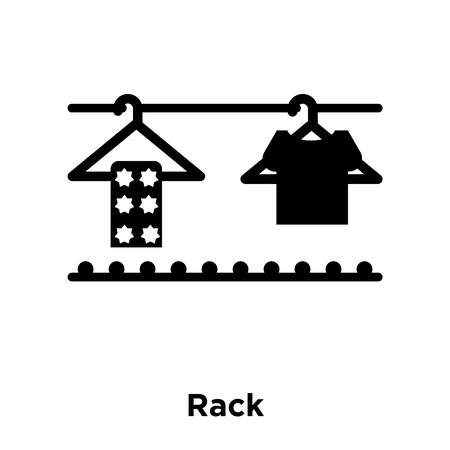 Rack icon vector isolated on white background, logo concept of Rack sign on transparent background, filled black symbol
