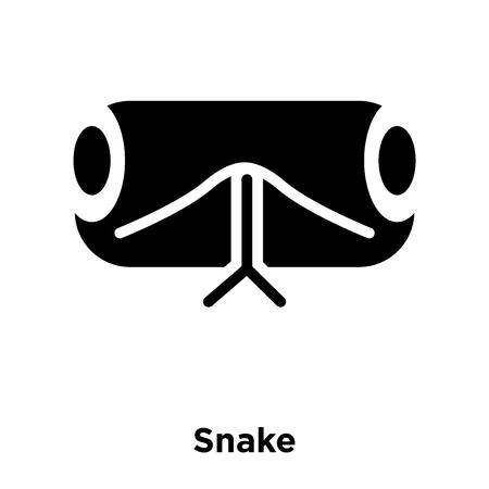 Snake icon vector isolated on white background, logo concept of Snake sign on transparent background, filled black symbol