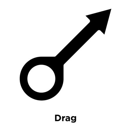 Drag icon vector isolated on white background, logo concept of Drag sign on transparent background, filled black symbol Illustration