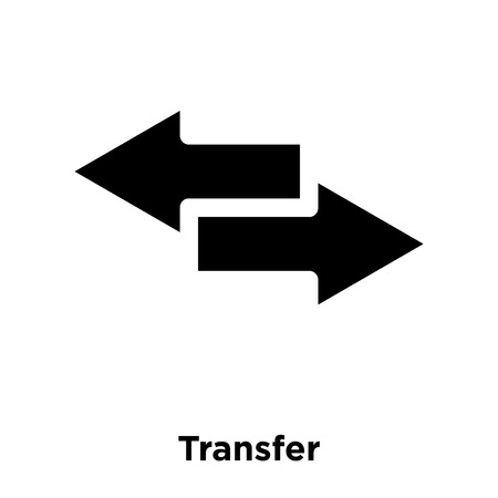Transfer icon vector isolated on white background, logo concept of Transfer sign on transparent background, filled black symbol Illustration