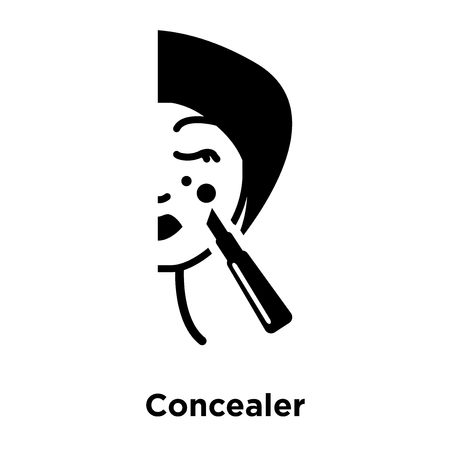 Concealer icon vector isolated on white background, logo concept of Concealer sign on transparent background, filled black symbol