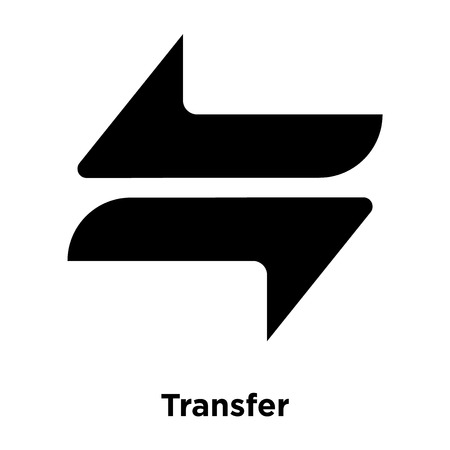 Transfer icon vector isolated on white background, logo concept of Transfer sign on transparent background, filled black symbol