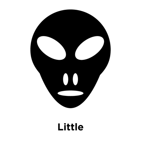 Little Extraterrestial icon vector isolated on white background, logo concept of Little Extraterrestial sign on transparent background, filled black symbol