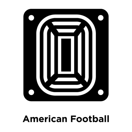 American Football Stadium icon vector isolated on white background, logo concept of American Football Stadium sign on transparent background, filled black symbol