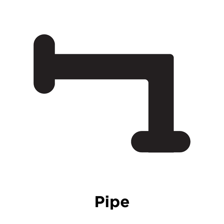 Pipe icon vector isolated on white background, logo concept of Pipe sign on transparent background, filled black symbol