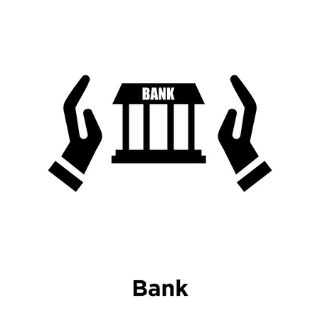 Bank icon vector isolated on white background, logo concept of Bank sign on transparent background, filled black symbol Illusztráció