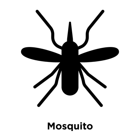 Mosquito icon vector isolated on white background, logo concept of Mosquito sign on transparent background, filled black symbol