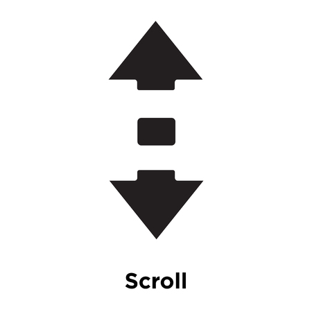 Scroll icon vector isolated on white background, logo concept of Scroll sign on transparent background, filled black symbol