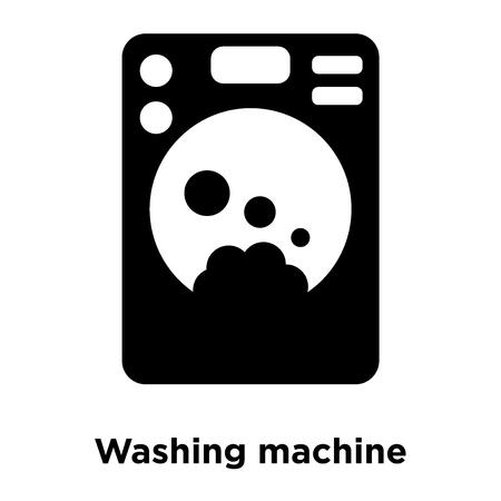 Washing machine icon vector isolated on white background, logo concept of Washing machine sign on transparent background, filled black symbol
