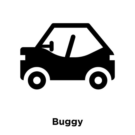 Buggy icon vector isolated on white background, logo concept of Buggy sign on transparent background, filled black symbol