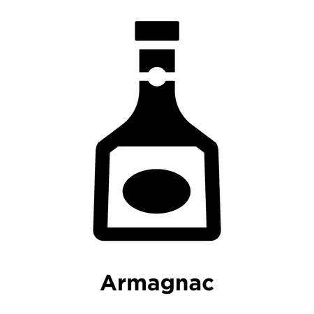 Armagnac icon vector isolated on white background, logo concept of Armagnac sign on transparent background, filled black symbol