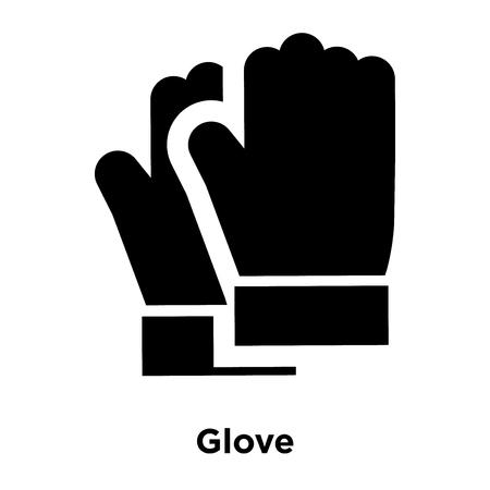 Handschuhsymbolvektor isoliert auf weißem Hintergrund, Logokonzept des Handschuhzeichens auf transparentem Hintergrund, gefülltes schwarzes Symbol