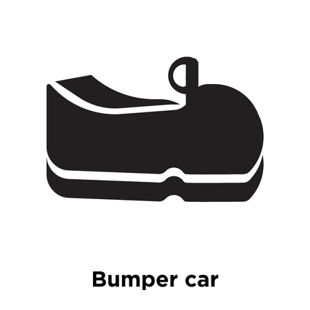 Bumper car icon vector isolated on white background, logo concept of Bumper car sign on transparent background, filled black symbol Ilustrace