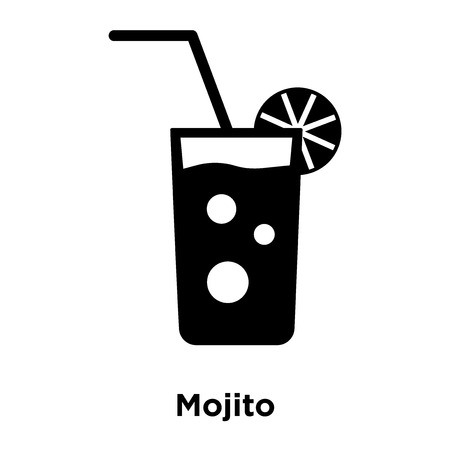 Mojito icon vector isolated on white background, logo concept of Mojito sign on transparent background, filled black symbol