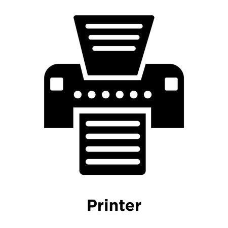 Printer icon vector isolated on white background, logo concept of Printer sign on transparent background, filled black symbol Illustration