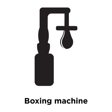 Boxing machine icon vector isolated on white background, logo concept of Boxing machine sign on transparent background, filled black symbol