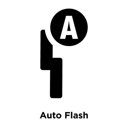 Auto Flash icon vector isolated on white background, logo concept of Auto Flash sign on transparent background, filled black symbol