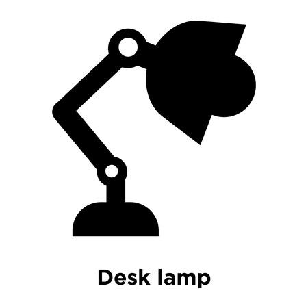 Desk lamp icon vector isolated on white background, logo concept of Desk lamp sign on transparent background, filled black symbol