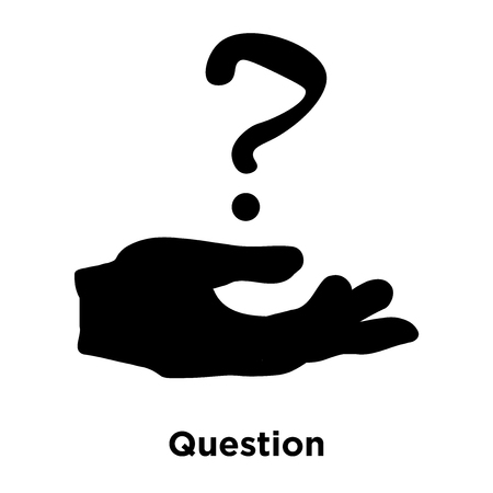 Question icon vector isolated on white background, logo concept of Question sign on transparent background, filled black symbol