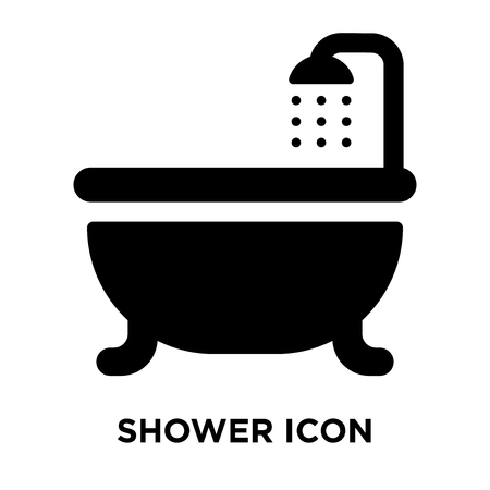 Shower icon vector isolated on white background, logo concept of Shower sign on transparent background, filled black symbol Archivio Fotografico - 107902027