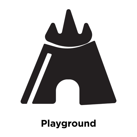 Playground icon vector isolated on white background, logo concept of Playground sign on transparent background, filled black symbol