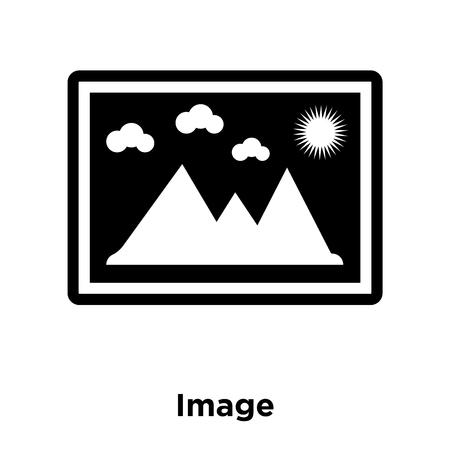 Image icon vector isolated on white background, logo concept of Image sign on transparent background, filled black symbol Illustration