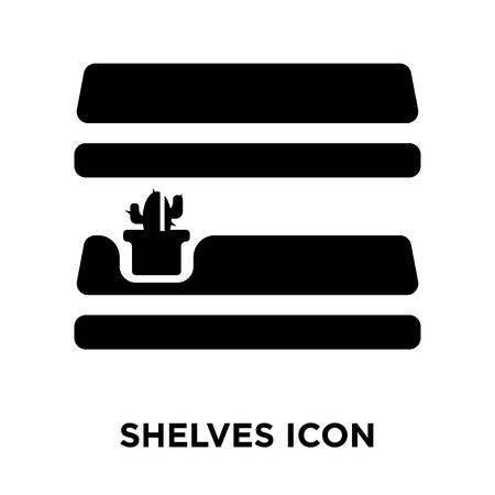 Shelves icon vector isolated on white background, logo concept of Shelves sign on transparent background, filled black symbol