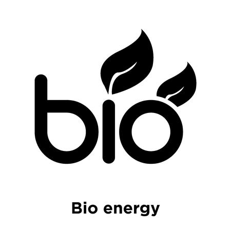 Bio energy symbol icon vector isolated on white background, logo concept of Bio energy symbol sign on transparent background, filled black symbol