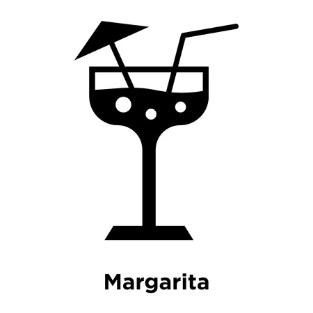 Margarita icon vector isolated on white background, logo concept of Margarita sign on transparent background, filled black symbol