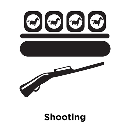 Shooting icon vector isolated on white background, logo concept of Shooting sign on transparent background, filled black symbol